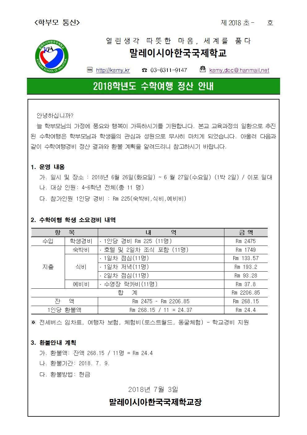 2018학년도 수학여행비 정산 가정통신문001.jpg