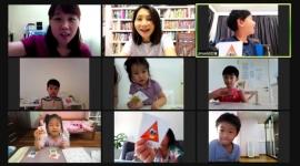 온라인 수업 모습(유치원)